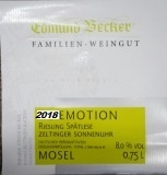 2019 Emotion Zeltinger Sonnenuhr Riesling Spätlese Premium 7,5 Vol% Alk