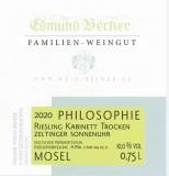 2020 Philosophie Zeltinger Sonnenuhr Steilstlage Riesling Kabinett trocken 11,0 Vol% Alk
