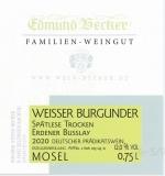 2020 Weißer Burgunder Spätlese trocken 12,0 Vol% Alk