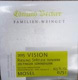 2015er Vision Premium Zeltinger Sonnenuhr Riesling Spätlese